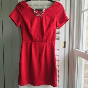 Red Crossback Dress